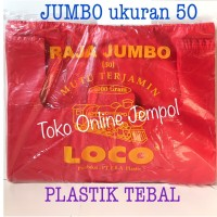 TEBAL MERAH uk 50 LOCO Plastik kresek kantong shopping bag jumbo TP161
