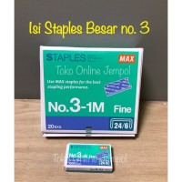 REFILL isi staples BESAR Max No.3-1M MS90112 stapler 762179 ATK0699MX