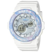 Jam Tangan Wanita Casio Baby-G Digital Analog White Resin BGA-270M-7A