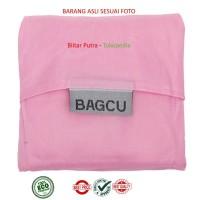 Pink - Bagcu / baggu tas belanja lipat reusable- export import quality