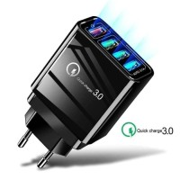 Qualcomm Fast Charging Usb Quick Charger QC 3.0 4 Port slot Android