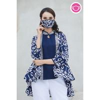 Maura Garut T0569,Baju atasan blouse batik wanita modern Nona Rara
