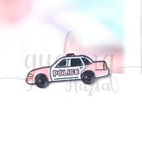 Pin Mobil Polisi Pink Police Car Bros Tas Lucu Unik GH 208251