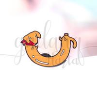Pin Anjing Sosis Dachshund Dog Bros Tas Lucu Unik GH 208250