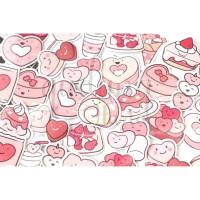 Stiker Strawberry Rollcake Cake Sticker DIY Scrapbook GH 303374