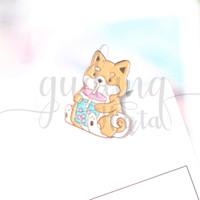 Pin Shiba Inu Bubble Tea Boba Dog Bros Tas Lucu Unik GH 208252