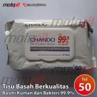 Chando Alcohol Wipe Wet Tissue Tisu Basah Sterilization Wipes Isi 50