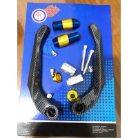 Proguard / Handguard Carbon Sabit motor Universal Jalu CNC Two tone