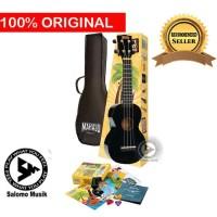 Ukulele Soprano Mahalo MR1 Black W/Essential + Softcase