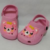 Baby and Kids Shoes S18-25|6M-2Y Karakter Panda Model Crocs Merk Dulux