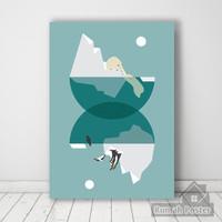 Geometric Pemandangan 01 | Poster kayu dekorasi ruangan |