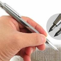 Flexsteel Tungsten Pen Ukir Metal Grafir kayu gelas logam aluminium