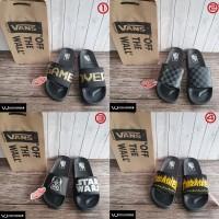 Sandal Slip On Vans Game Over Gold Checkerboard Logo Star Wars Premium