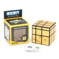 Rubik QiYi Mirror 3x3 Gold 3x3x3 Qi Yi Mirror Block Cube Golden Emas