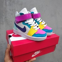 Sepatu Nike Jordan Anak Cewek Rainbow Terlaris Termurah