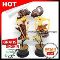 Miniatur Wayang Klitik Wayang Kayu Klithik Arjuna Srikandi T25