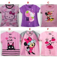 Kaos Anak Perempuan Lucu SIze 7-10 Tahun