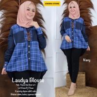Baju Atasan Wanita Blouse Muslim Laudya Top Addera