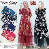 Baju Terusan Wanita Muslim Longdress Firea Maxy Nura