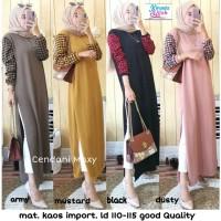 Baju Terusan Wanita Muslim Longdress Cendani Maxy Kirania