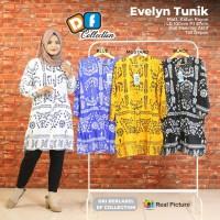 Baju Atasan Wanita Blouse Muslim Evelyn Tunik Df