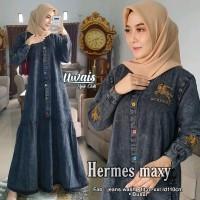 Baju Terusan Wanita Muslim Longdress Hermess Maxy Uwais