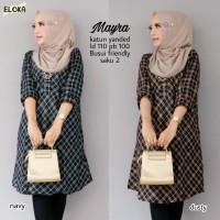 Baju Atasan Wanita Blouse Muslim Mayra Tunik Eloka