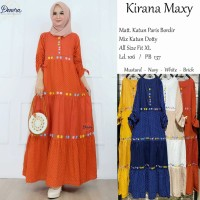 Baju Terusan Wanita Muslim Longdress Kirana Maxy Dnr