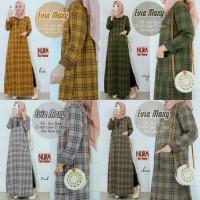 Baju Terusan Wanita Muslim Longdress Evia Maxy Nura