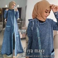 Baju Terusan Wanita Muslim Longdress Tiya Maxy Uwais