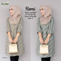 Baju Atasan Wanita Blouse Muslim Rumi Tunik Eloka