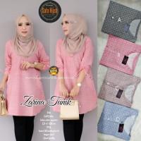Baju Atasan Wanita Blouse Muslim Zarina Tunik Sf