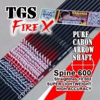 Shaft TGS Fire X 600 ID4.2 Pure Carbon Murni Batang Anak Panah