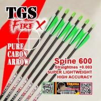 Arrow TGS Fire X 600 ID 4.2 Pure Carbon Murni Anak Panah