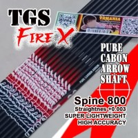 Shaft TGS Fire X 800 ID 4.2 Pure Carbon Murni Batang Anak Panah