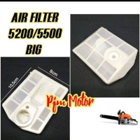 Air Filter Saringan udara Hawa Mesin Chainsaw Sinso 5200 5500 5800 big