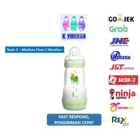 Botol Susu MAM Anti Colic Bottle 0+ Months 260ml - Green / Hijau