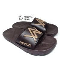 Sandal Pria Sendal Casual Pria Anti Air Porto 3 Model - Brown