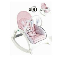 Right Starts Newborn To Toddler Music Portable Bouncer Hijau