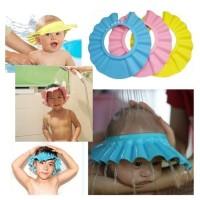 Topi Mandi Kramas Keramas Bayi Anak Kancing Shower Cap Hat Kid Baby
