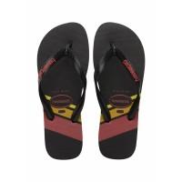 Sandal Pria/Laki-laki Havaianas Top Trend Fc 7652-Black/Black/Ruby Red - 37-38