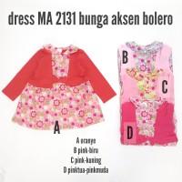 Baju Bayi Perempuan Dress Anak MA 2131 Bunga Aksen Bolero