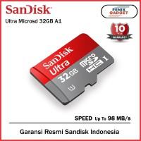 SanDisk Ultra A1 MicroSD Card 32gb 98MBps Class 10 - Garansi Resmi