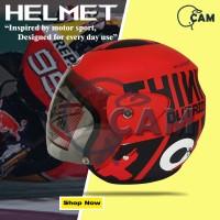 Helm Motor Evolution Lorenzo outride red f doff SNI BUkan GM BXP NHK