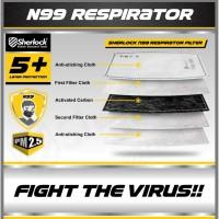 FILTER CARBON RESPIRATOR N99 SHERLOCK ( 5 PCS / pack for Masker Kain )