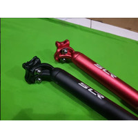 SEATPOST ALLOY SLR 31.6 MM X 400 MM BLACK RED MERAH HITAM 40 CM