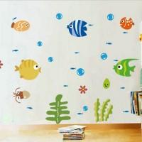Stiker Dinding Decal Desain Ikan trcal untuk Kamar Anak