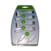 Kabel Pro02 Putih untuk iPhone, iPod, iPad, Nokia, Motorola, Samsung,