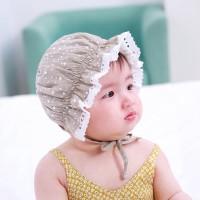 TERBARU Lace Baby Bucket Hat Sweet Princess Kids Cap Solid Color