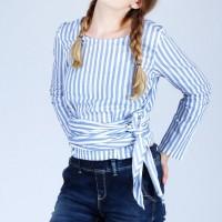 Kemeja Wanita / Carna White Blue Shirt 24447D5WL - Ninety Degrees